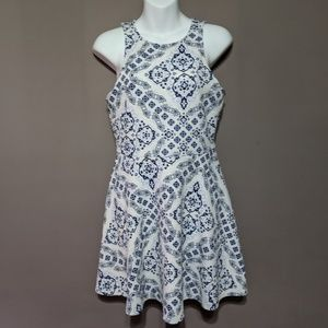 Aeropostale White/Blue Dress Medium
